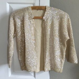 Sweaters - Vintage SUPER SPARKLY Sequin Cardigan Sweater